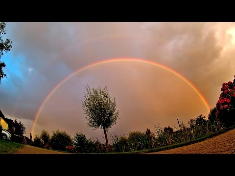 Rainbow: Optical Phenomenon, time-lapse in wide angle