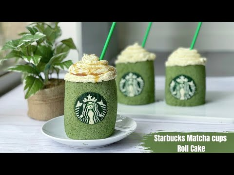 Starbucks Matcha Cups Roll Cake เค้กโรลมัชชะสตาร์บัค
