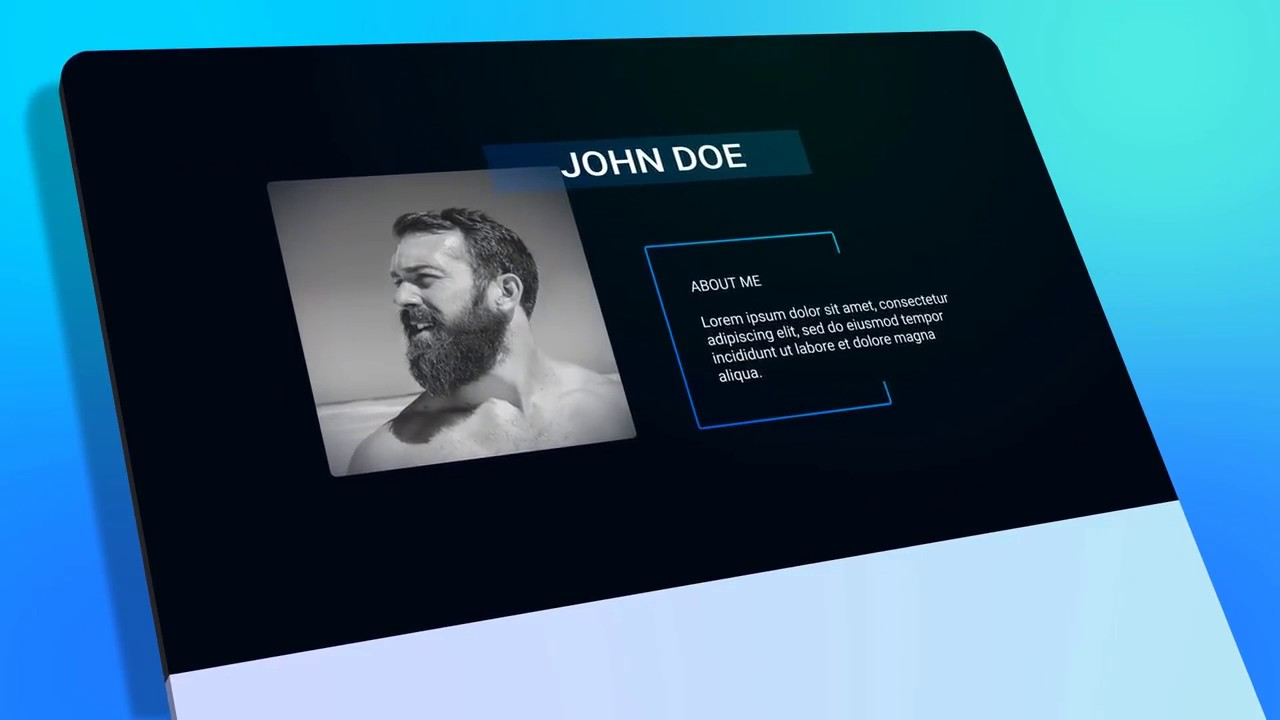 Resume Personal Presentation Free After Effects Template