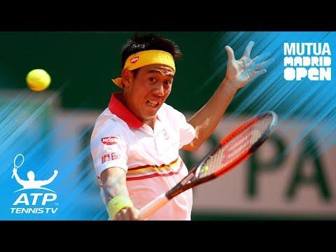 Nishikori sells Djokovic with great dummy and backhand winner | Mutua Madrid Open 2018