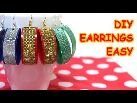 Diy Earrings Jewelry Ideas Easy Made From Plastic Bottle
