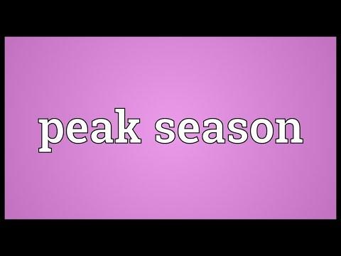 Peak season Meaning