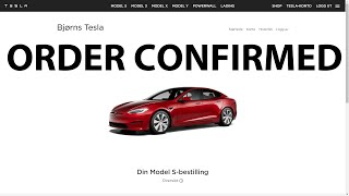 I ordered Tesla Model S Plaid+