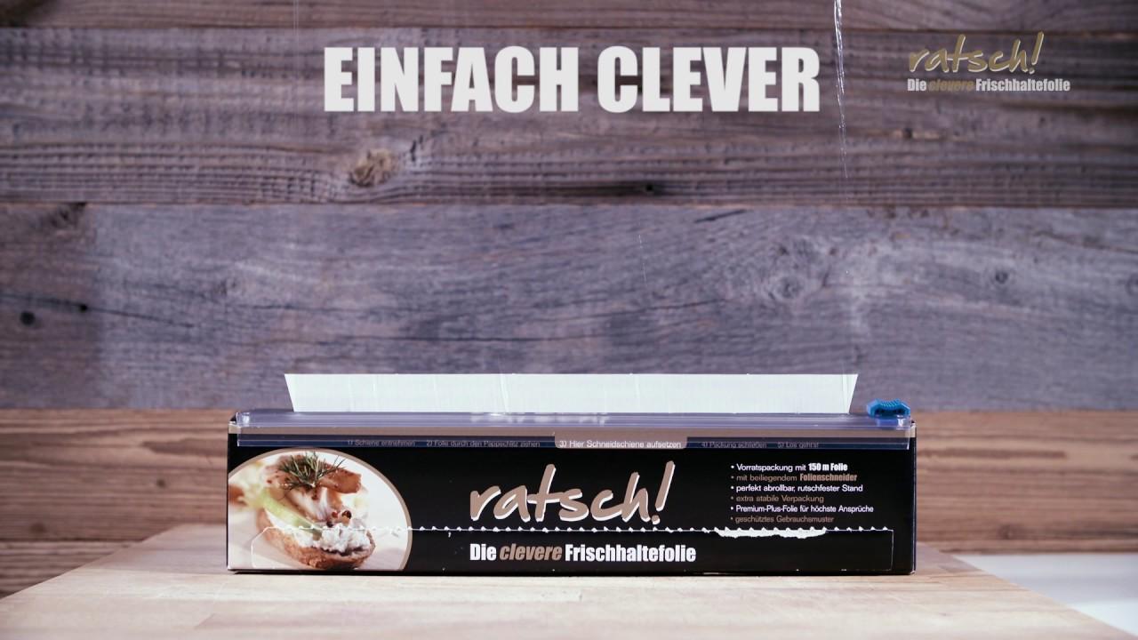 ratsch! Die clevere Frischhaltefolie - Produktfilm Kurzversion - YouTube