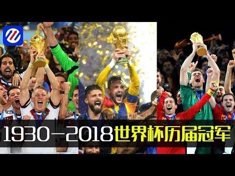 世界杯1930-2018历届冠军 WORLD CUP CHAMPIONS 1930-2018