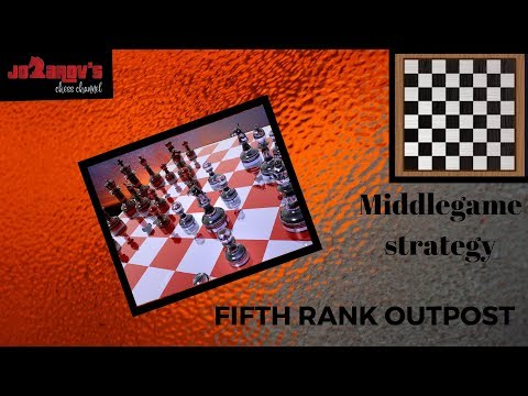 Basics in chess - Middle game strategy - 5th rank outpost