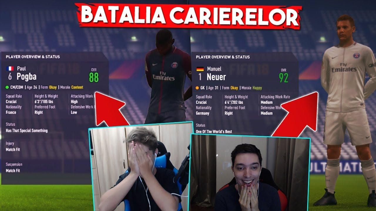 NEUER SI POGBA LA PSG ! | BATALIA CARIERELOR in FIFA 18