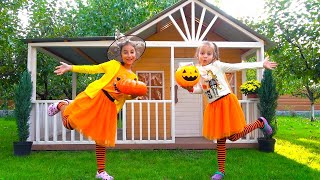Меняемся ПОДАРКАМИ на Halloween ЧЕЛЛЕНДЖ My Little Nastya