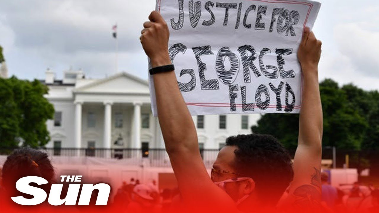 Live Protesters Gather Near White House Calling For Justice George Floyd S Death Youtube