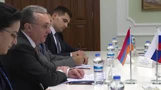 С.Лавров и З.Мнацаканян, Ашхабад 10 октября 2019 года