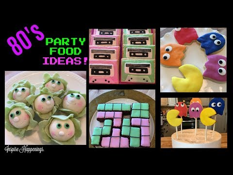 80'S PARTY FOODS! (Cabbage Patch Donuts, Cassette Tape Poptarts, Tetris Brownies, Pac Man Cookies)