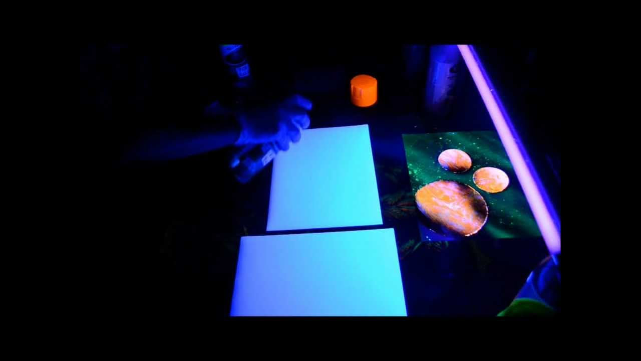 Glow in The Dark Spray Painting & Glow in The Dark Spray Painting - YouTube