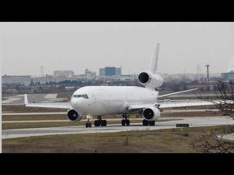 Wide Body Aircraft Departures Boeing 767-300 & 777 MD-11 Toronto Pearson HD