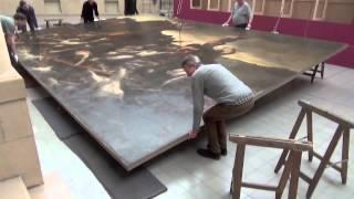 Opbouw tentoonstelling Géricault
