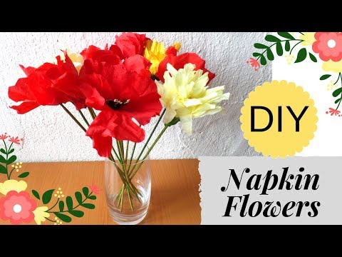 DIY Flowers out of Kitchen Napkins! Amazing Paper Flowers | How to Make | by Fluffy Hedgehog