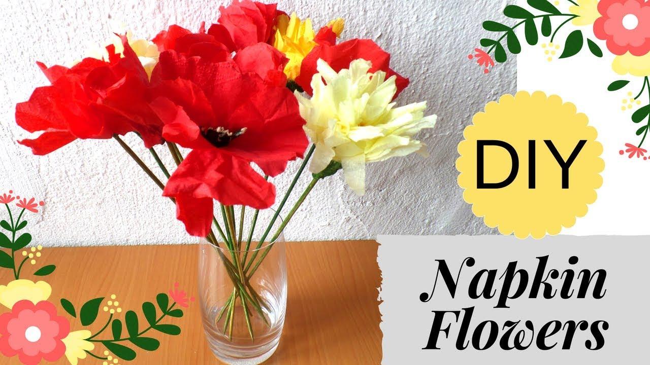 Napkin flowers