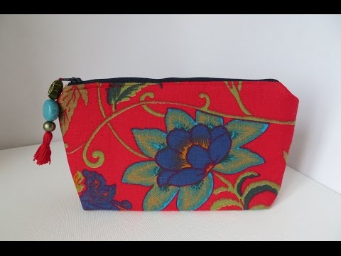 How to make a Zippered Pouch