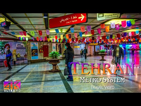 【4K】SIGHTSEEING: «Tehran Metro» Iran 2020   Ultra HD Travel Video