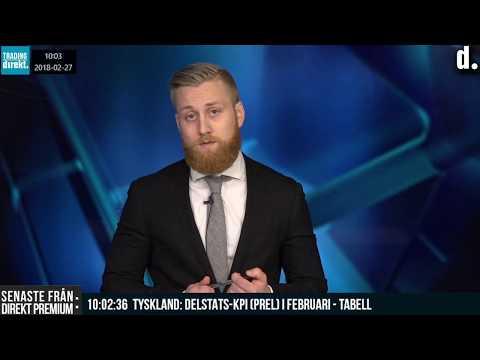 Trading Direkt 2018-02-27 Rapporter från SAS, Boozt, Alm Equity. Tobbe Rosén kör TA!