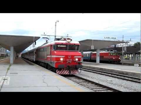 """Express 481 """"Opatija""""  Ljubljana - Rijeka hauled by SŽ363 at Ljubljana"""