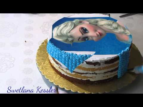 Оформление торта Эльза