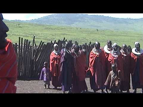 Welcome in a Masai-village, Tanzania