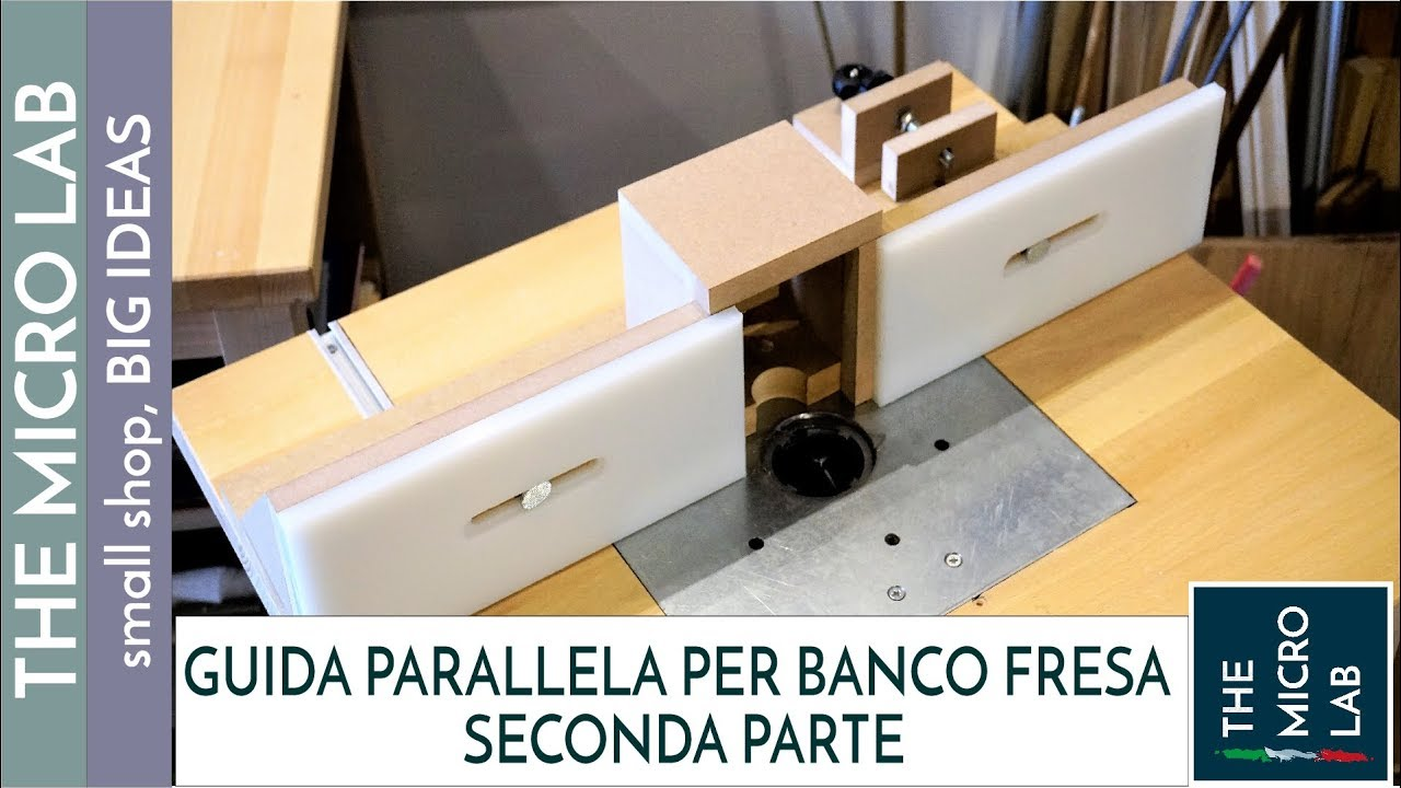 Guida parallela per banco fresa con regolazione for Progetto banco fresa autocostruito