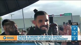 Drake paid for everyone's groceries at a Miami supermarket