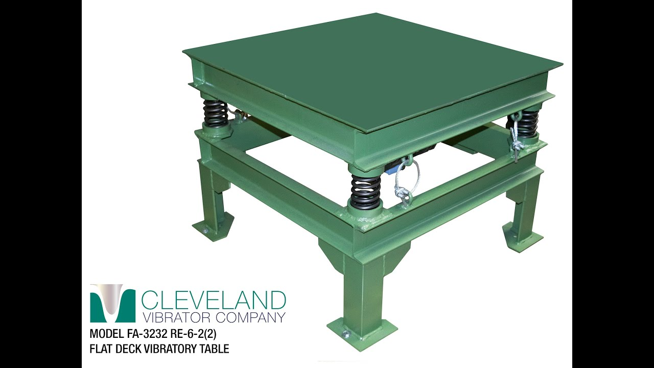 Cleveland Vibrator Flat Deck Table For Settling Liquid Metal Into Molds