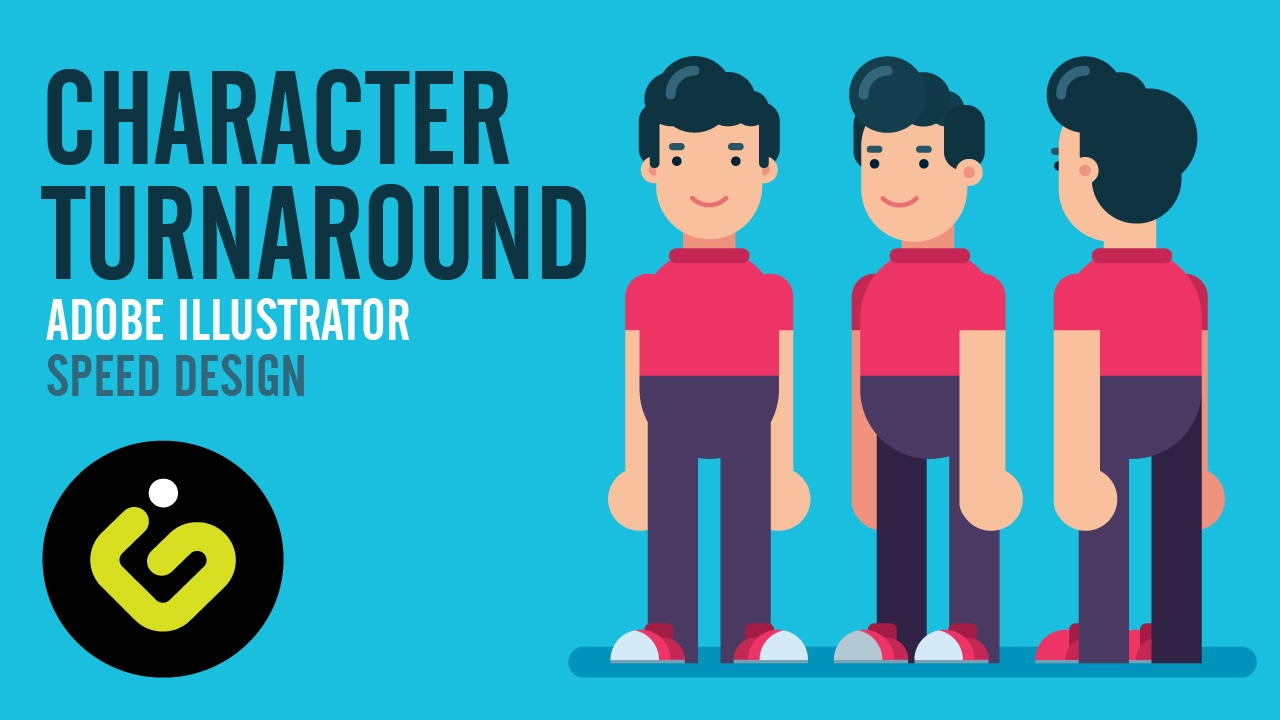 Inkscape Character Design Tutorial : How to draw a character turnaround graphic design