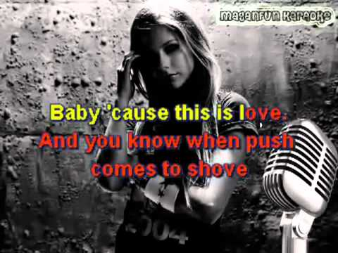 Avril Lavigne - Push (Karaoke w/ Backing Vocals) MaganFunKARAOKE