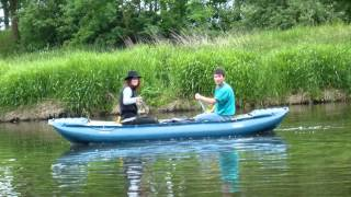 Ohře u Kynšperka - Boat On The River
