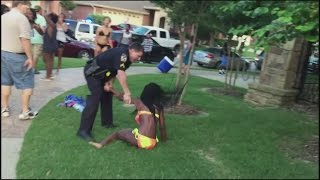 Texas pool party cop suspended after pulling gun