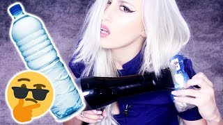 Curling Hair with a Water Bottle ?! || 😳🤔  INSTA HACK?!