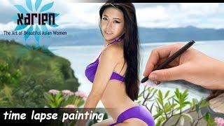 time lapse luvian ben neng digital painting