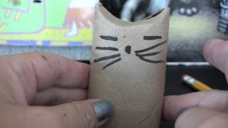 how to make a treat cat toy with a toilet paper roll
