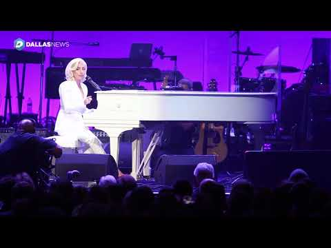 Lady Gaga performs give me a million reasons at Harvey relief concert at Texas A&M