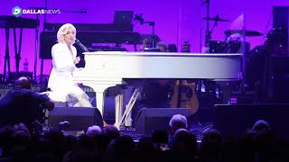 Lady Gaga performs at Harvey relief concert at Texas A&M. Deep from...