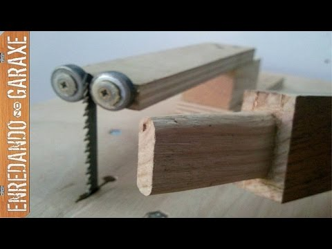 Cortar espigas con la sierra de calar de mesa youtube for Sierra de cortar
