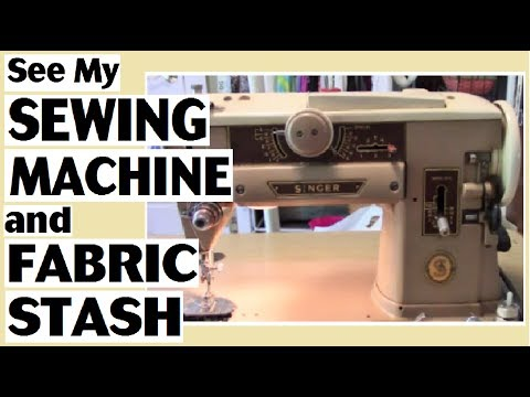 FINALLY!!!  See My Sewing Machine and Fabric Stash
