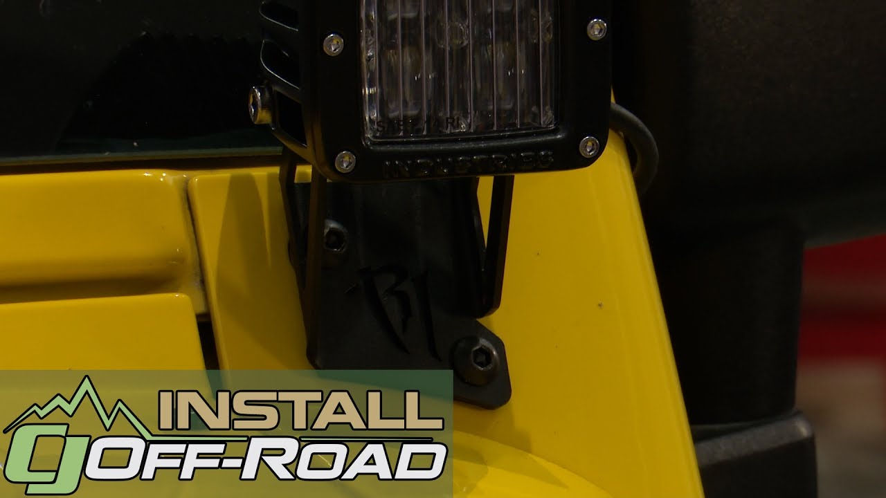 Jeep Wrangler Jk Rigid Industries A Pillar Mounting Kit For D Series Gauge Pod Led 2007 2018 Installation