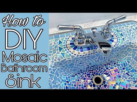 Diy Mosaic Tile Sink Bathroom
