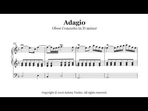 Organ: Marcello Adagio  Oboe Concerto in D minor