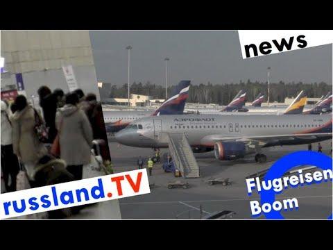 Flugreisen-Boom in Russland