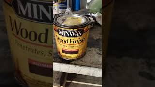 MINWAX FAST-DRYING POLYURETHANE REVIEW! With Minwax Wood finish red mahogany 225