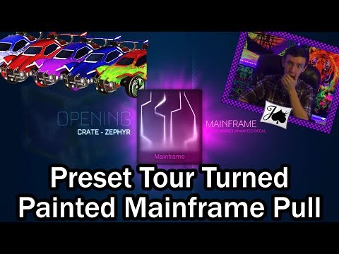 Finally Pulling Painted Mainframe, During a Preset Tour Video...?! (Rocket League)