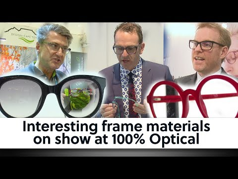 Interesting Frame Materials On Show At 100% Optical