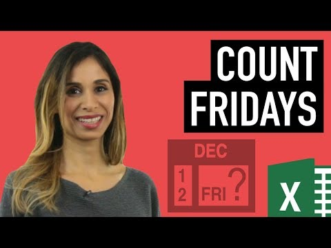 Count Day Of Week Between Dates In Excel (How Many Fridays?)