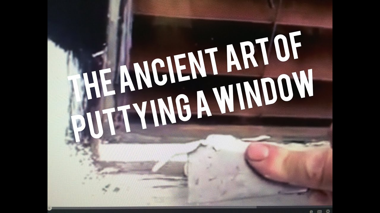 How To Putty Gl Window With Glazing Tool Dap 33 Easy Simple You