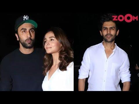 Alia Bhatt, Ranbir Kapoor, Kartik Aaryan & other Bollywood Celebs at 'De De Pyaar De' Screening